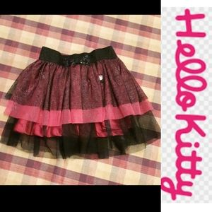 size 4 Hello Kitty sparkly layered tutu skirt